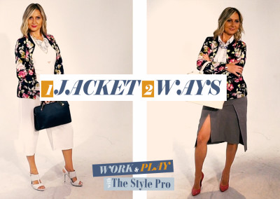 Ep. 3 | How to Wear ONE Jacket TWO Ways | Work & Play Fashion with The Style Pro